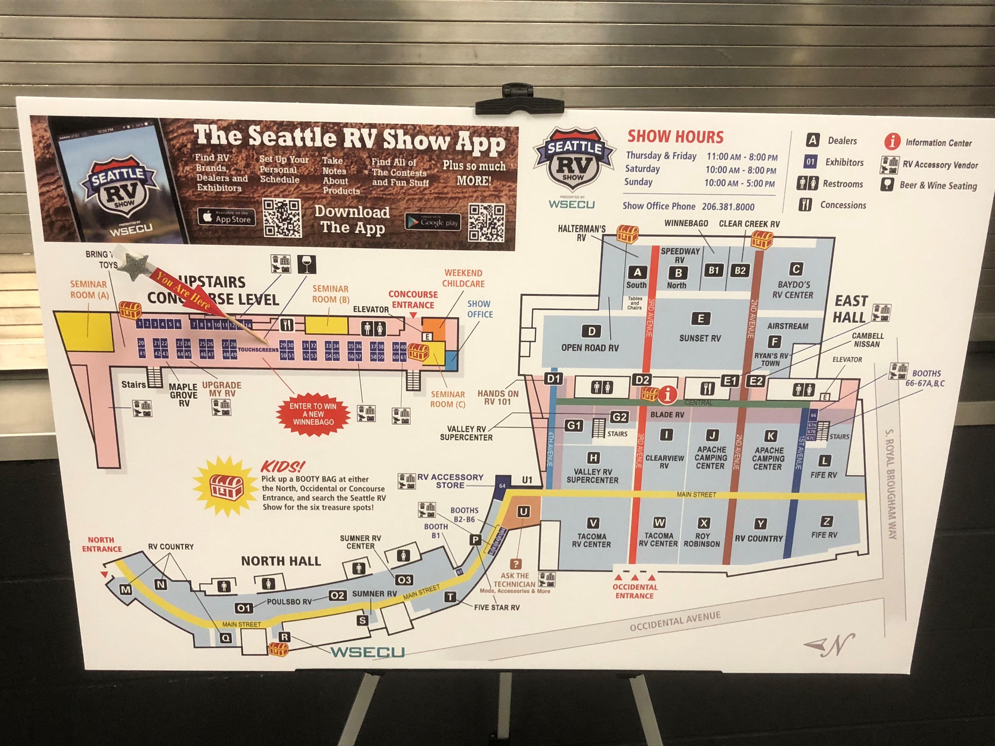 Seattle Rv Show 2018 Map Mycamperfriend Com