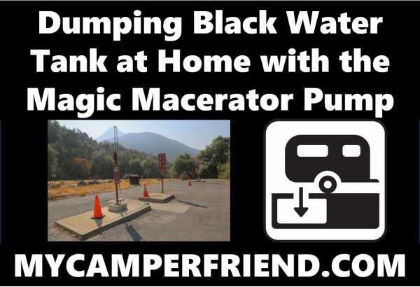 Dumping Black Water Tank At Home Mycamperfriend Com